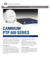 Cambium PTP 800 Series Spec Sheet